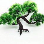1 pièce Pin de Bienvenue Bonsaï emulé Simulation décoratifs Arbres Artificielles Faux Vert Pot plantes Ornemants Interieurs de Maisonnerie de la marque Domire image 1 produit