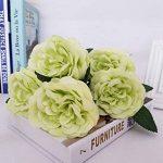 10 Pièces Rose de Fleurs Artificielles Bouquet pour Home Décoration/Mariage Decor vert de la marque Guiran image 1 produit