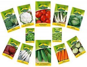 12 variétés   Assortiment de graines de légumes   adapté aux débutants   mélange robuste   maintenant prix spécial d'hiver de la marque Quedlinburger image 0 produit
