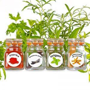 50 étiquettes en plastique lavable pour les épices en pot. Images captivantes et colorées de 50 herbes et épices. de la marque LabelCreate image 0 produit