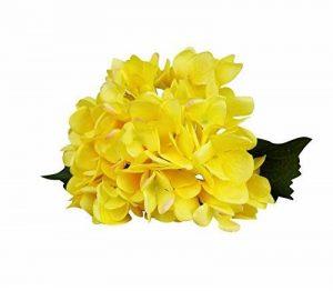 6 Pièces Fleurs Artificielles Hortensia fleur de simulation pour bouquet de mariage Home Party Décor Jaune de la marque Guiran image 0 produit