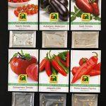 6 variétés | Assortiment de graines de légumes | Édition Gourmet | Set pour l'aubergine Italiano-Paprika Jalapeno-Chili Salade de bœuf-coeur-tomate-tomate Nasch-tomate | pour la culture dans le lit de jardin et le balcon de la marque Austrosaat image 2 produit