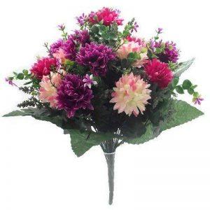 A1 Home Bouquet de fleurs artificielles Rose/lie-de-vin 41cm de la marque A1 Home image 0 produit