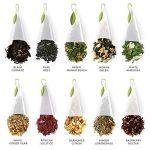 Assortiment de dégustation de thés Tea Forte Boîte de présentation Échantillonneur de thés, assortiment de thés variés, 20 sachets de thé pyramidaux à infuser - Thé noir, thé blanc, thé vert, tisane de la marque Tea Forte image 3 produit
