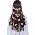 Bohême Fleur Hippie Bandeaux Guirlande - AWAYTR Fait main Tournesols Couronne de Cheveux Couronne avec Ajustable Perles en Bois de la marque AWAYTR image 1 produit