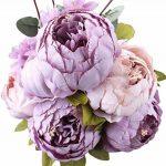 Bouquet artificiel de pivoines Amkun - 1 pièce - Fleurs en soie - Décoration de maison - Mariage de la marque Amkun image 2 produit