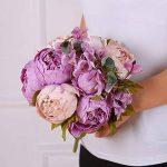 Bouquet artificiel de pivoines Amkun - 1 pièce - Fleurs en soie - Décoration de maison - Mariage de la marque Amkun image 3 produit