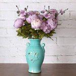 Bouquet artificiel de pivoines Amkun - 1 pièce - Fleurs en soie - Décoration de maison - Mariage de la marque Amkun image 4 produit