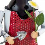 BRUBAKER Porte-bouteille de vin - Couple dans jardin / Jardiniers - Métal - Carte de vœux incluse - Idée cadeau originale - Objet décoratif de la marque Brubaker image 4 produit