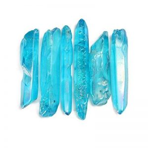 Bureze 50g très puissant et Rare Bleu Aura Lemurian Graines de cristal de quartz Healing point de la marque Bureze image 0 produit