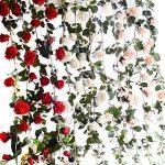 Butterme 1PCS 6 FT faux roses fleurs de vigne fleurs artificielles plantes jardin principal parti craft art bureau de l'hôtel de mariage décoratif de la marque ZUMUii image 2 produit