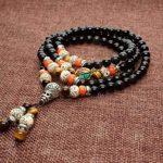 COAI 6mm Bracelet Mala Collier de Prière Bouddhiste Obsidienne Noire Œil de tigre Jaune 6*8mm Graines de Bodhi Unisexe de la marque coai image 2 produit