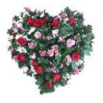 Cocodeko Lot de 4artificielle Rose soie fleur avec feuille verte Vine Plastique à suspendre Vine Guirlande Couronne Flora artificielle pour maison cour Clôture Décoration de jardin de mariage de la marque Cocodeko image 1 produit