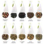 Coffret d'assortiment de dégustation de thés Tea Forté avec 40 infuseurs de thé de forme pyramidale faits main - Thé noir, tisane, thé Oolong, thé vert, thé blanc de la marque Tea Forte image 3 produit