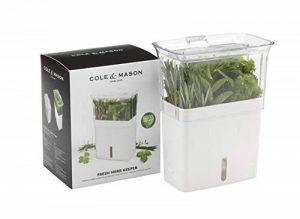 Cole & Mason CH105159 Conservateur de Herbe Fraîche Coupée Blanc/Gris 23 x 18,5 x 12 cm de la marque Cole & Mason image 0 produit