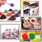 Colorant de savon - Pigments de poudre de mica pour la bombe de bain - Colorant de fabrication de savon - 24 belles couleurs (5g) - fabrication de bougie, ombre à paupières, fard à joues, art de clou, bijoux de résine, artiste, projets d'artisanat de la m image 4 produit