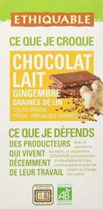 Ethiquable Chocolat Lait Gingembre Graines de Lin République Dominicaine Bio et Equitable en 100 g Paysans Producteurs - Lot de 5 de la marque ETHIQUABLE image 0 produit