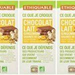 Ethiquable Chocolat Lait Gingembre Graines de Lin République Dominicaine Bio et Equitable en 100 g Paysans Producteurs - Lot de 5 de la marque ETHIQUABLE image 3 produit