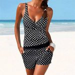 Femme Maillot De Bain 2 PièCes Dots Bikini Vintage Tankini Retro Bikini, Women Tankini Swimsuit Bikini Beachwear Swimwear Bathingsuit Padded Push Up Plus de la marque HCFKJ image 1 produit