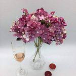 Fleur artificielle fleur en soie Real Touch Fleur 10 Tête Lovely Violet Hortensia Bouquet Composition florale, parfait pour un mariage, fête, maison Décoration DIY de la marque Live with Love image 1 produit
