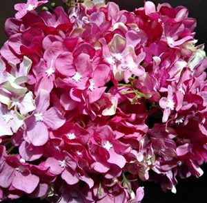 Fleur artificielle fleur en soie Real Touch Fleur 10 Tête Lovely Violet Hortensia Bouquet Composition florale, parfait pour un mariage, fête, maison Décoration DIY de la marque Live with Love image 0 produit