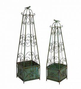 Fleur Pot Rack En Fer Forgé Rétro Oiseau Cage Drop-floor Type Grimpant Vigne Balcon Jardin Fil Lotus Fleur étagère Jardinage de la marque WAZY image 0 produit