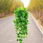 Fleurs Fleurs artificielles plantes grimpantes Plantes Chlorophytum Suspension Simulation de décoration fleur en Plastique Panier Rotin vigne pendaison Pot vert de la marque WANG-shunlida image 4 produit