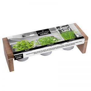 Florex Kit Fines Herbes en Pots - Support Bois de la marque Florex image 0 produit
