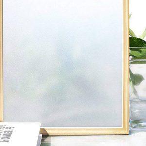 Homein Film pour fenêtres vie privée grainé mat aveugle déco 44.5* 200cm auto-adhésif réutilisable anti-96% UV vie privée pour la chambre à coucher le bain et salle de réunion Bureau etc 90 x 200cm de la marque Homein image 0 produit