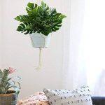 HUAESIN 2pcs plante verte artificielle bouquet d'Arbuste Feuilles Tropicale Faux Philodendron Monstera decoration maison intérieur extérieur - artplants palmier de la marque HUAESIN image 2 produit