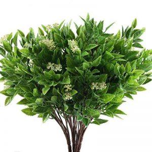 HUAESIN 4pcs plante artificielle petit arbuste branche de fausse fleur de neige feuille dentelée pour gardin maison intérieur ou extérieur de la marque HUAESIN image 0 produit
