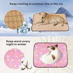 Idepet - Tapis de couchage à double usage pour chiots et chats - Natte rafraîchissante en bambou pendant l'été et Coussin de dissipation de la chaleur pendant l'hiver, M/L/XL/XXL, Rose/violet/marron/café de la marque Idepet image 3 produit