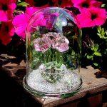 Inconnu H & D Cristal Rose Bouquet de roses fleurs Figurines Ornement dôme en verre avec boîte cadeau de la marque Inconnu image 2 produit