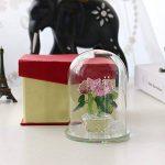 Inconnu H & D Cristal Rose Bouquet de roses fleurs Figurines Ornement dôme en verre avec boîte cadeau de la marque Inconnu image 3 produit