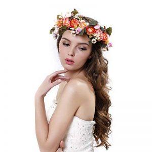 Jamais Fée ® Couronne de fleur Serre-tête avec ruban réglable pour femmes filles Accessoires Cheveux de la marque Ever Fairy image 0 produit