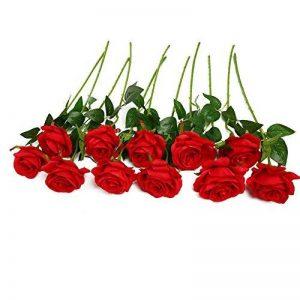 JUSTOYOU 10 roses en soie pour bouquets artificiels, décoration d'intérieur, au bureau, ou pour des compositions de mariage de la marque JUSTOYOU image 0 produit