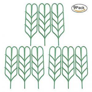 JYCRA support pour plantes de jardin Treillis, DIY Pot de jardin Mini Treillage pour plantes en pleine Croissance support–Forme de feuille, Vert 3Set/9pcs Green de la marque JYCRA image 0 produit