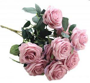 La Vogue 10 Pcs de Roses Artificiels en Tissu et Plastique Diy Décoration Maison - 7 Couleurs Disponible F de la marque La Vogue image 0 produit