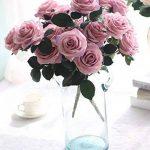 La Vogue 10 Pcs de Roses Artificiels en Tissu et Plastique Diy Décoration Maison - 7 Couleurs Disponible F de la marque La Vogue image 1 produit