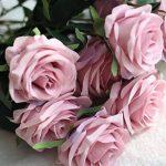 La Vogue 10 Pcs de Roses Artificiels en Tissu et Plastique Diy Décoration Maison - 7 Couleurs Disponible F de la marque La Vogue image 2 produit