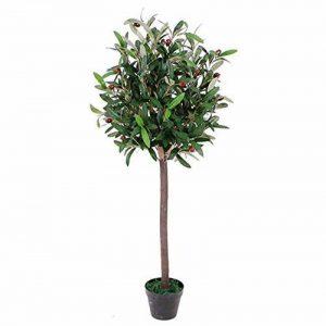 Leaf Olive Artificielle Topiary Arbres Fruitiers - En Plastique Noir Pot - 90cm Olive Bay Topiary de la marque Leaf image 0 produit