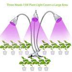 LED élèvent la lumière 15W Full Spectrum double plante tête lampe cou 360 ° flexible double commutateur pour plante hydroponique à effet de serre de la marque Lumière de la plante image 3 produit
