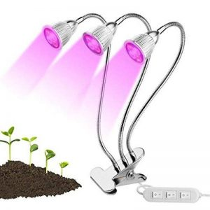 LED élèvent la lumière 15W Full Spectrum double plante tête lampe cou 360 ° flexible double commutateur pour plante hydroponique à effet de serre de la marque Lumière de la plante image 0 produit