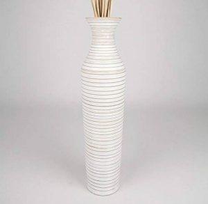 Leewadee Grand Vase Décoratif 75 cm, Bois du manguier, White Wash de la marque Leewadee image 0 produit
