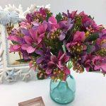 Live with Love Fleur artificielle fleur en soie Real Touch Fleur Lovely Narcisse Lily Bouquet Composition florale, parfait pour un mariage, fête décoration, cadeau, DIY de la marque Live with Love image 2 produit
