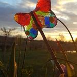 Lot de 2 papillons, à planter, décoration de plante, fête des mères, cadeau original unique, anniversaire, femme, couleur, plante, été jardinière de la marque image 1 produit