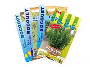 Lot de 4 sachets de Graines d'Herbes/Plantes Aromatiques spéciales Viandes - Graines Potagères à semer de la marque Les-Graines-Bocquet image 0 produit