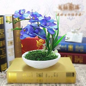 LSRHT Fleurs artificielles Les fleurs en soie bleu plantes orchidées Bouquet romantique idéal pour la décoration de la maison Garden Party mariage montrant de la marque LSRHT image 0 produit