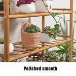 LXLA- Succulentes Pot De Fleur Stand Salon Multicouche Présentoir En Bois Massif Balcon En Pot Plant Rack Intérieur 3-Tier (taille : 70×24×46cm) de la marque LXLA-support de fleurs image 3 produit