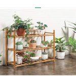 LXLA- Succulentes Pot De Fleur Stand Salon Multicouche Présentoir En Bois Massif Balcon En Pot Plant Rack Intérieur 3-Tier (taille : 70×24×46cm) de la marque LXLA-support de fleurs image 1 produit